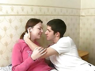 Meticulous Russian nubile with innate milk cans luvs ravaging beau freesex