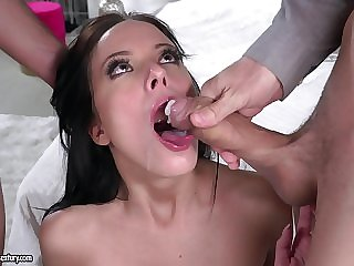 Getting fucked by several dick simultaneously is Lexi Layo's favorite thing
