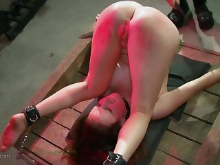 Tattooed redhead MILF loves nothing more than to get tied up and abused
