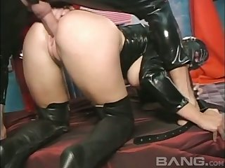 This masked slut loves having hardcore sex and she likes it from behind