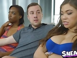 Big-chested black Cassidy Banks entices sister??s beau for sneaky intercourse porntube