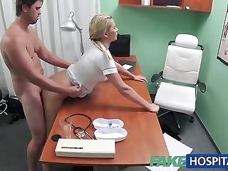 Blondie nurse helps boy realize an physical salute with will not hear of mitts free porn