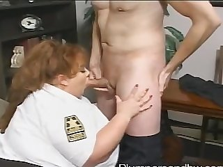 BBW police bureaucrat Zazie Jeannete gets brutally fucked