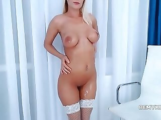 Naughty Shaved Tramp Amazing Webcam Show