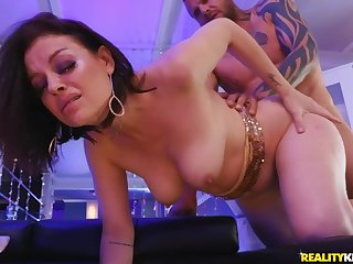 Sovereign Syre has her hairy twat penetrated by a big hard cock