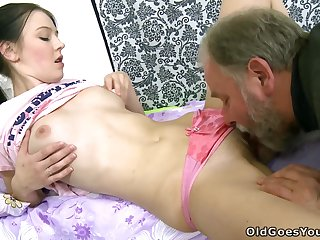 [OldGoesYoung] Katia (Katia's man hold her face as she with Timea Bella