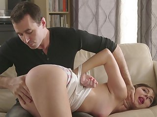 Man's hard rod suits the step daughter with more than enough pleasure