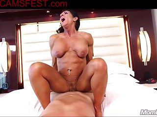 Charming 60yo Fit Body Builder Mommy Assfuck