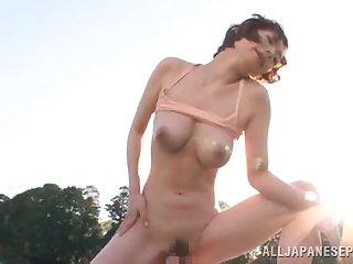 Amateur outdoors fucking with natural boobs Japanese Nao Mizuki