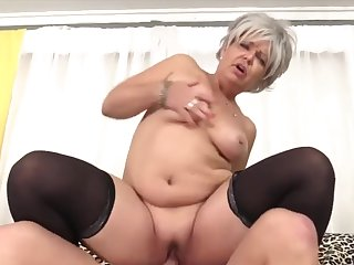 Sexy and hot mature sluts enjoy their mature pussies getting fucked in cowgirl positions