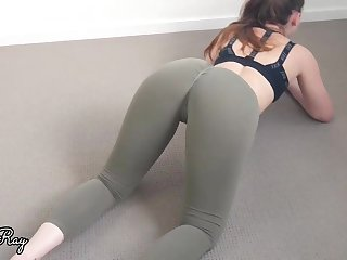 Damsel in yoga trousers would like to have lovemaking instead of doing her exercise routine