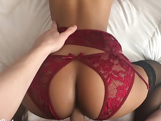 Please put your dick in me! Petite babe fucked in sexy lingerie